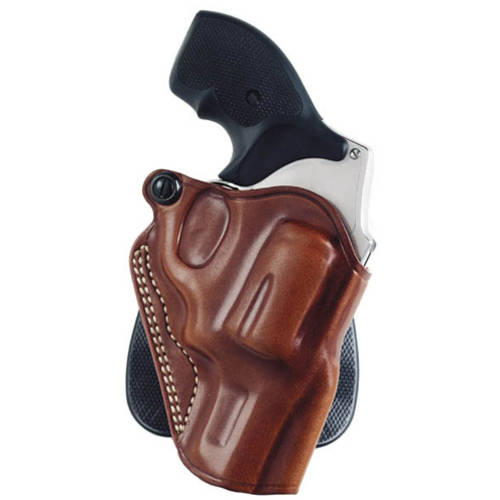 Galco Speed Paddle Holster, Fits Ruger LCR, Right Hand, Black Leather Tan by Galco