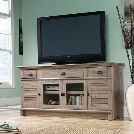 Sauder Harbor View TV Stand for TVs up to 70;, Salt Oak