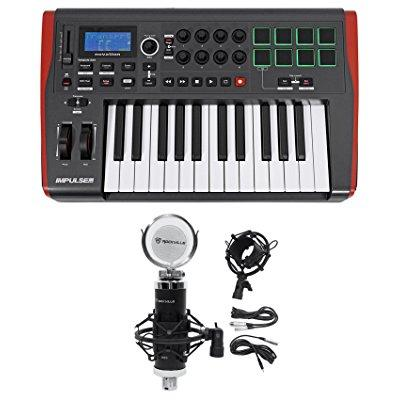 Novation IMPULSE 25 Ableton Live 25-Key MIDI USB Keyboard Controller+Studio Mic by NOVATION