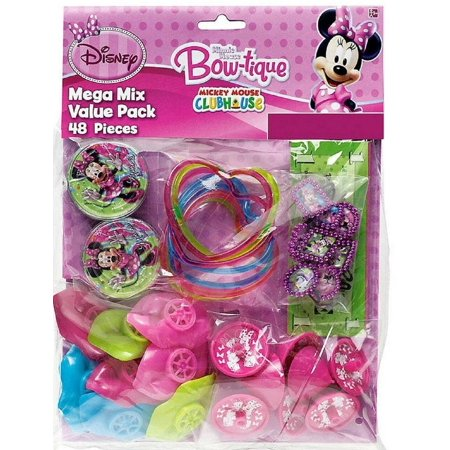 Party Favors - Minnie Mouse - Mega Mix Value Pack - 48pc Set - Minie Mouse Party