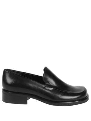 Franco Sarto L-Bocca Women  Round Toe Leather Black Loafer