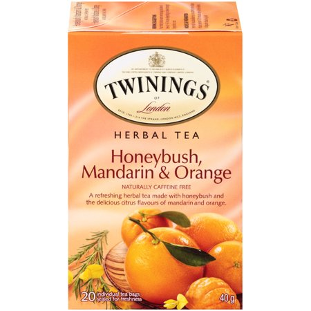 (6 Boxes) Twinings of London Honeybush, Mandarin and Oranges Herba Tea, 20 Ct (Intense Mandarin Orange)