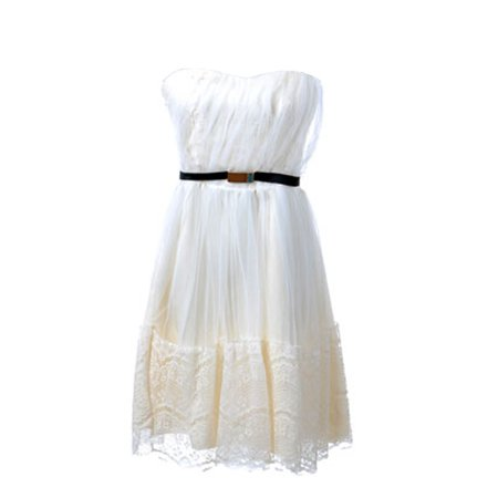 S/M Fit Off-White Princess Inspired Lacey Lace Prom Cocktail Dress](Cheap 1920s Inspired Dresses)
