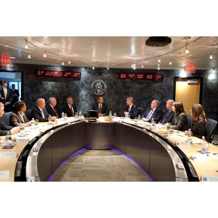 President Obama Meets With Nctc National Counterterrorism Center Director Michael Leiter Center Right Security Advisors And Analysts In The Secure Video Teleconference Room In Mclean Virginia Oct 6 20 ()