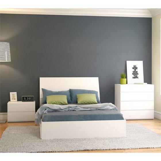 Nexera Blvd 4 Piece Full Storage Bedroom Set In White