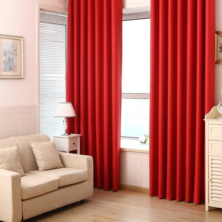 Extra Long and Wide Blackout Curtains Thermal Insulated Room Darkening  Curtains for Bedroom/Living Room, Red
