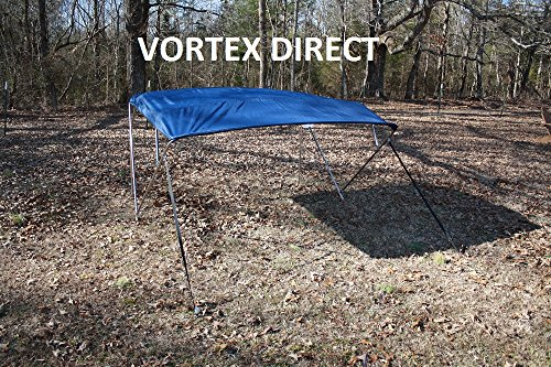 "New NAVY BLUE STAINLESS STEEL FRAME VORTEX 4 BOW PONTOON DECK BOAT BIMINI TOP 10' LONG, 79-84"" WIDE (FAST SHIPPING... by VORTEX DIRECT"