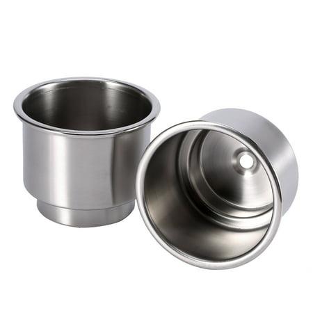 2Pcs Stainless Steel Cup Drink Bottle Holder for Marine Boat RV Camper, Cup Storage, Mount Cup Holder