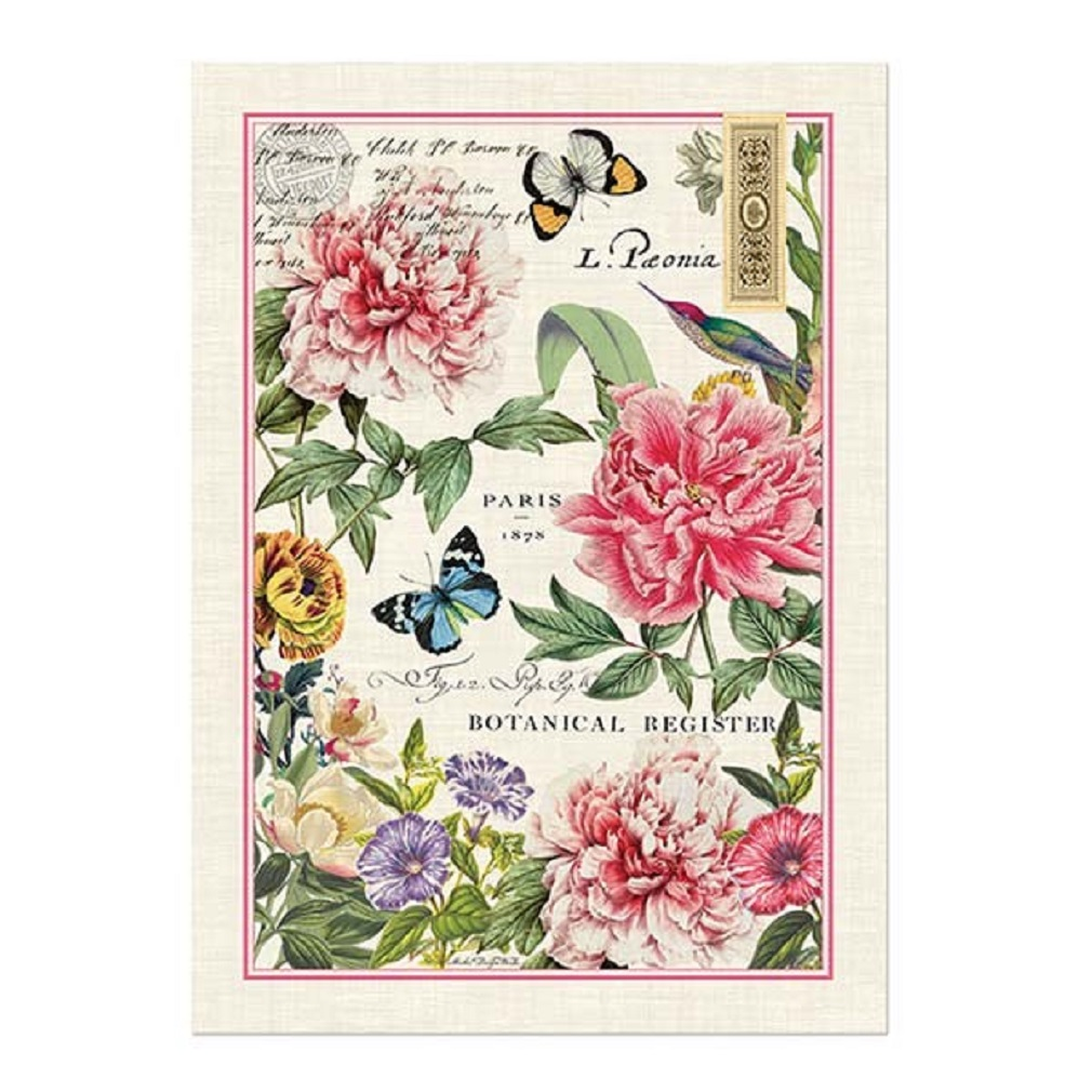 Charmant Michel Design Works Peony Cotton Kitchen Towel
