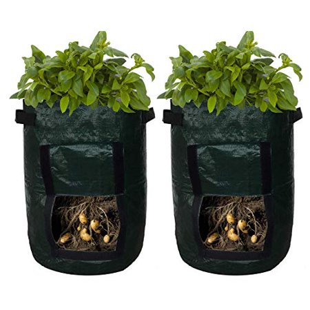 Reactionnx Potato Planter Bags - Garden Tub for Vegetable Growing with Flap Access - 2 Pack
