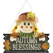 """Harvest 18"""" Scarecrow Girl """"Autumn Blessings"""" Wall Hang Decor Harvest Fall Decoration"""