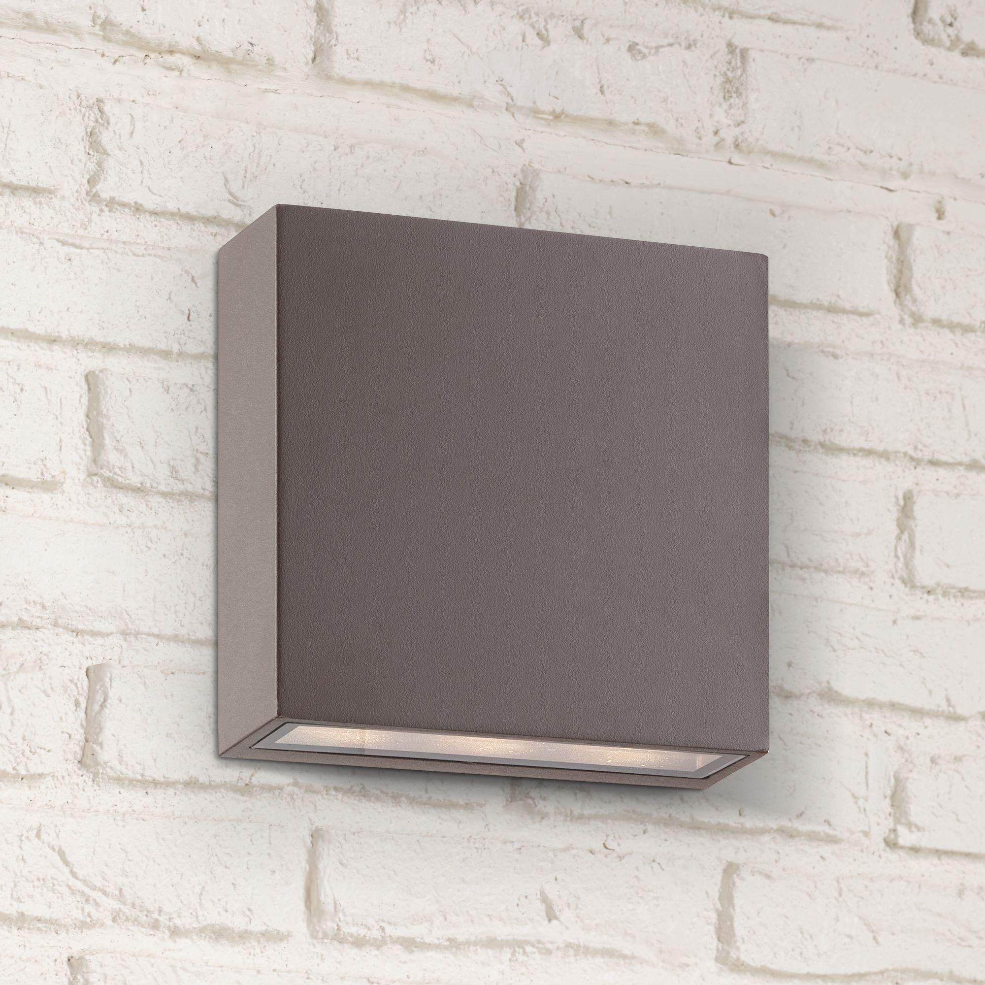 Possini Euro Design Stanford Bronze Outdoor Led Wall Up And Downlight
