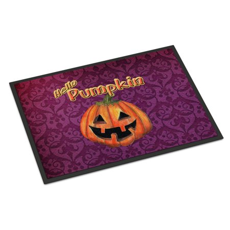 Hello Pumpkin Halloween Door Mat Doormat - Halloween Welcome Mat