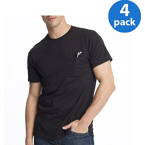 Hanes - Men's ComfortSoft Pocket Tees, 4-Pack