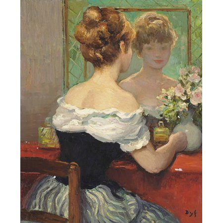 LAMINATED POSTER Marcel Dyf - Claudine By The Mirror, 1971 24x36 Poster Print