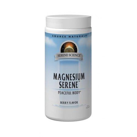 Magnesium Serene 800mg-Berry Flavor Source Naturals, Inc. 8 oz Powder