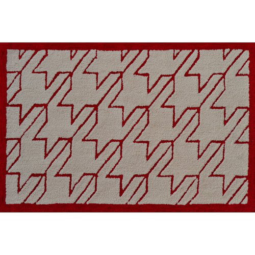 "The Rug Market Fresh Houndstooth Red 2.8"" x 4.8"" Area Rug by The Rug Market"