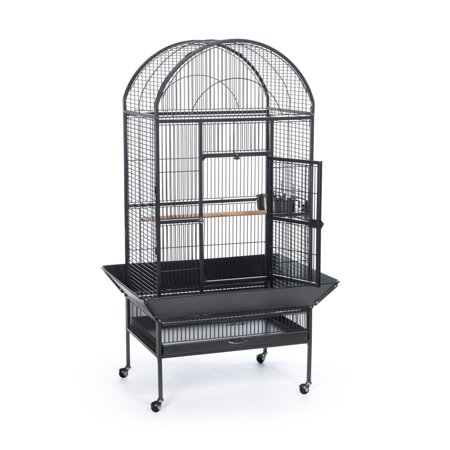 Prevue Pet Products Large Black Hammertone Dome Top Bird Cage