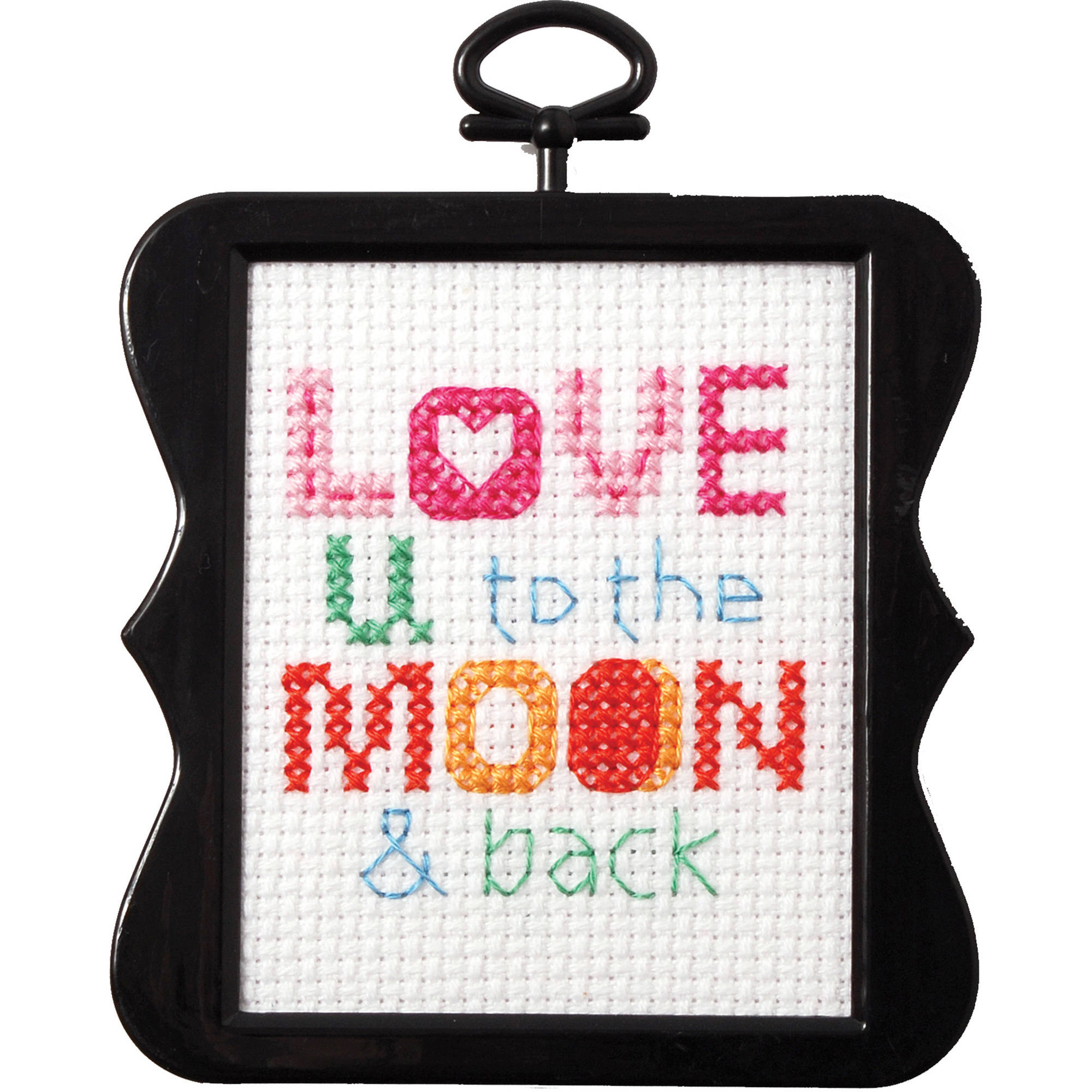 """""""Bucilla/Beginner Minis Counted Cross Stitch Kit 3""""""""X3""""""""-Love U To The Moon (14 Count)"""""""
