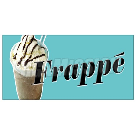 FRAPPE Decal iced cold coffee drink greek sign new cart trailer stand sticker](New Halloween Frappe)