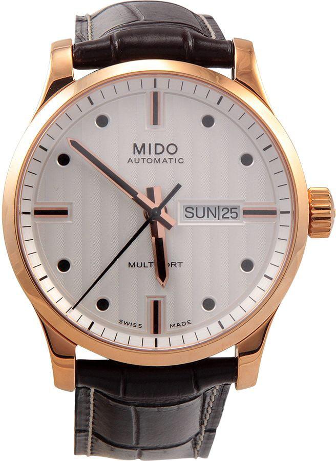 Men's M0054303603100 Multifort Analog Swiss Automatic Brown Watch