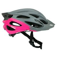 Zefal Women's Pro Gray Pink Bike Helmet (Universal Dial, 24 Large Vents, Ages 14+)