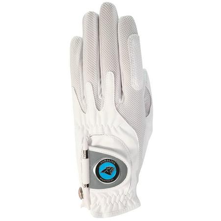 Carolina Panthers Women's Left Hand Golf Glove & Ball Marker - White - OSFM](Panther Gloves)