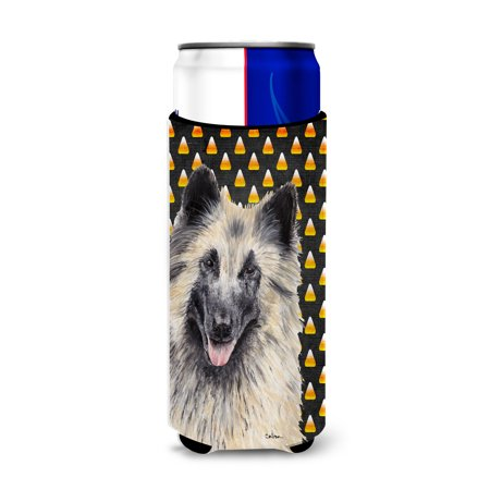 Belgian Tervuren Candy Corn Halloween Portrait Ultra Beverage Insulators for slim cans SC9193MUK