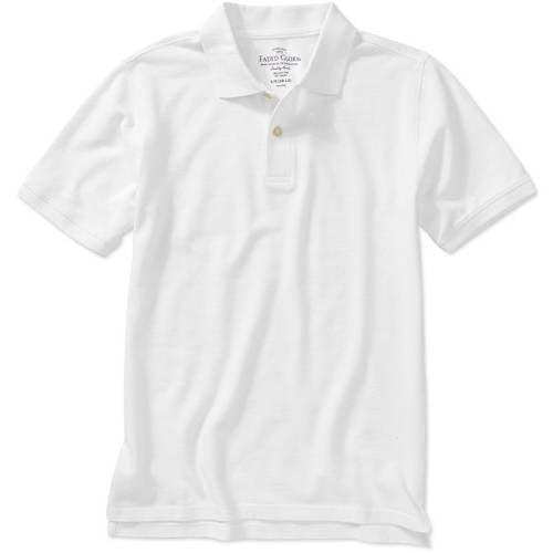Faded Glory Husky Boys' Solid Short Sleeve Polo Shirt