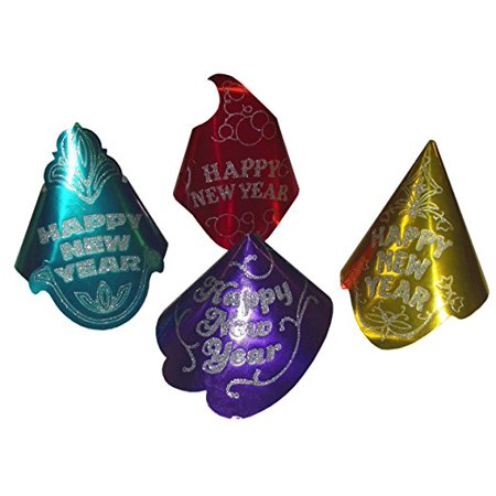 Amscan Happy New Years Cone Party Hat Assortement-Includes 1; styles vary - Happy New Year Hat