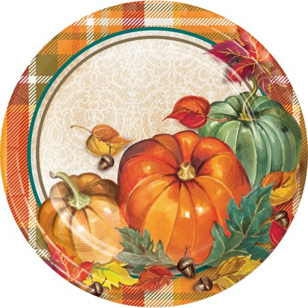 Traditional Thanksgiving Dessert Plates, 24 count