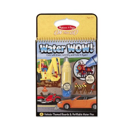 Melissa   Doug On The Go Water Wow  Water Reveal Pad  Vehicles   4 Boards And Water Pen