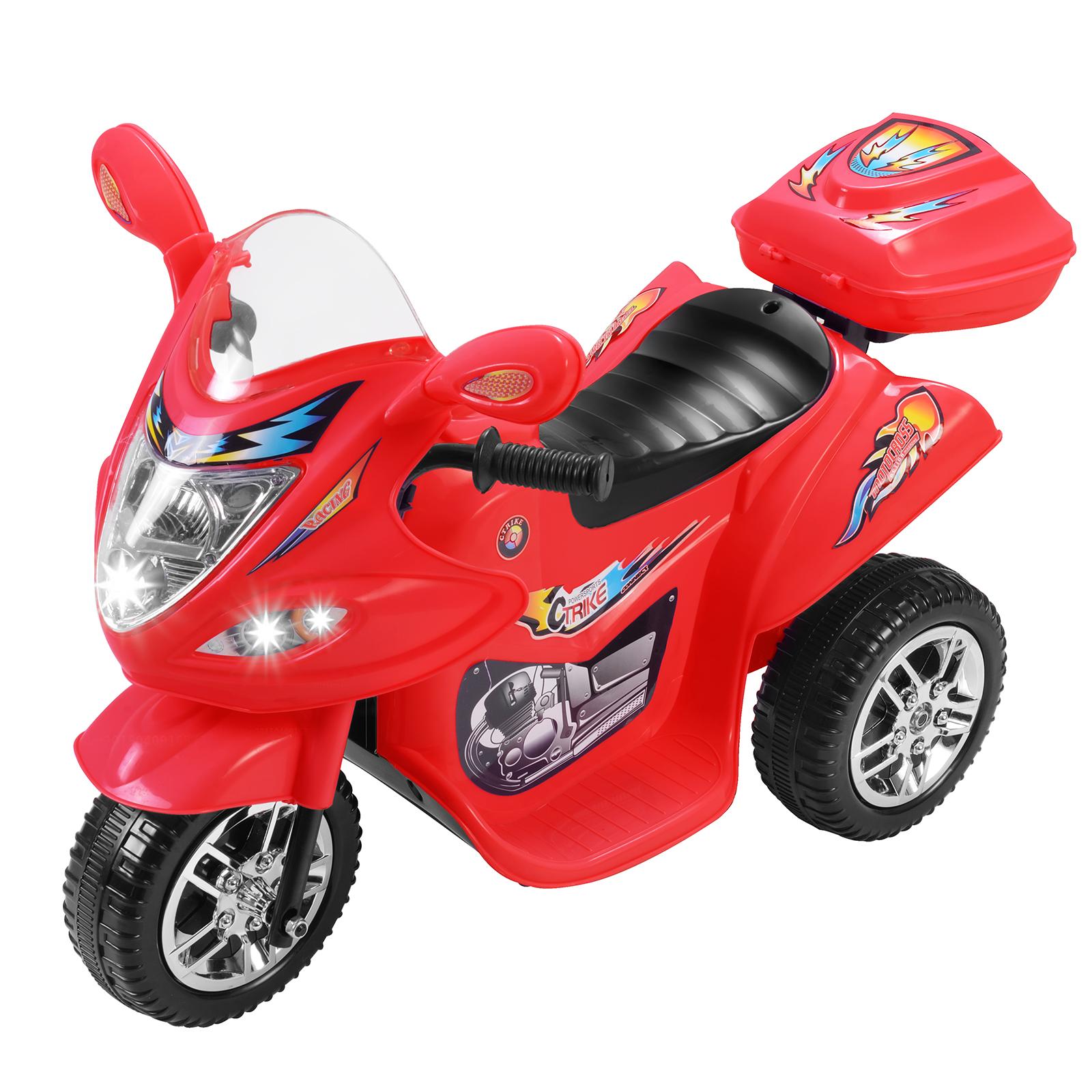 Uenjoy Kids Ride on Motorcycle 6V Electric Motorcycle 2 Wheels Red by Uenjoy