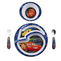 Disney Pixar Cars 3 Feeding Set Toddler Plate Bowl Knife & Fork Set