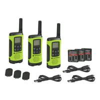 3-Pack Motorola Talkabout T260TPG Walkie Talkie Radios