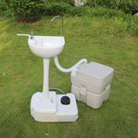 Ktaxon Upgraded 10L Garden Wash Sink and 20L Toilet Combo