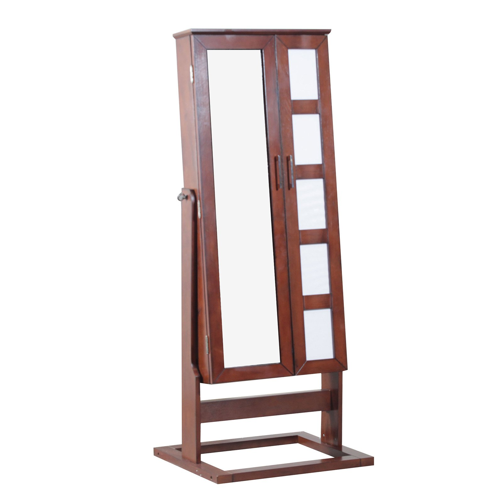 Cheval Jewelry Armoire With Five-Photo Display, Cherry Finish by L. Powell Acquiition Corp