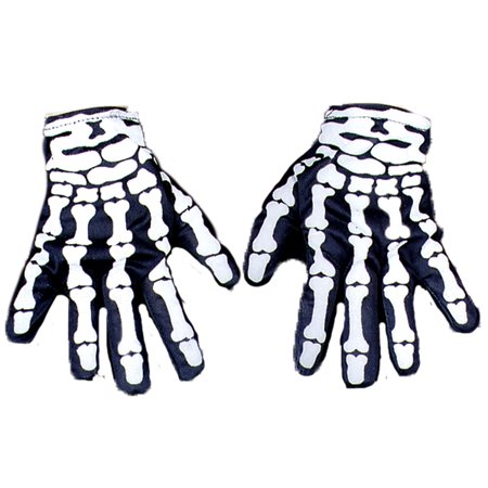 Skeleton Hand Gloves Adult Halloween Accessory