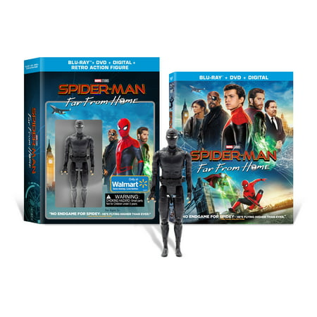 Spider-man: Far From Home (Walmart Exclusive) (Blu-ray + DVD + Digital Copy + Night Monkey Action Figure) ()