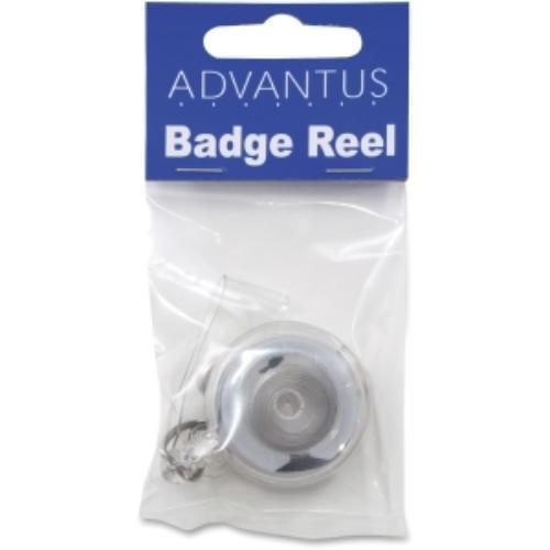 Advantus Translucent Retractable Id Card Reels - Plastic, Nylon - 12 / Pack - Translucent (avt-75473)