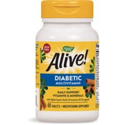 Nature's Way Alive! Diabetic Multivitamin, with B-Vitamins, 60 Tablets