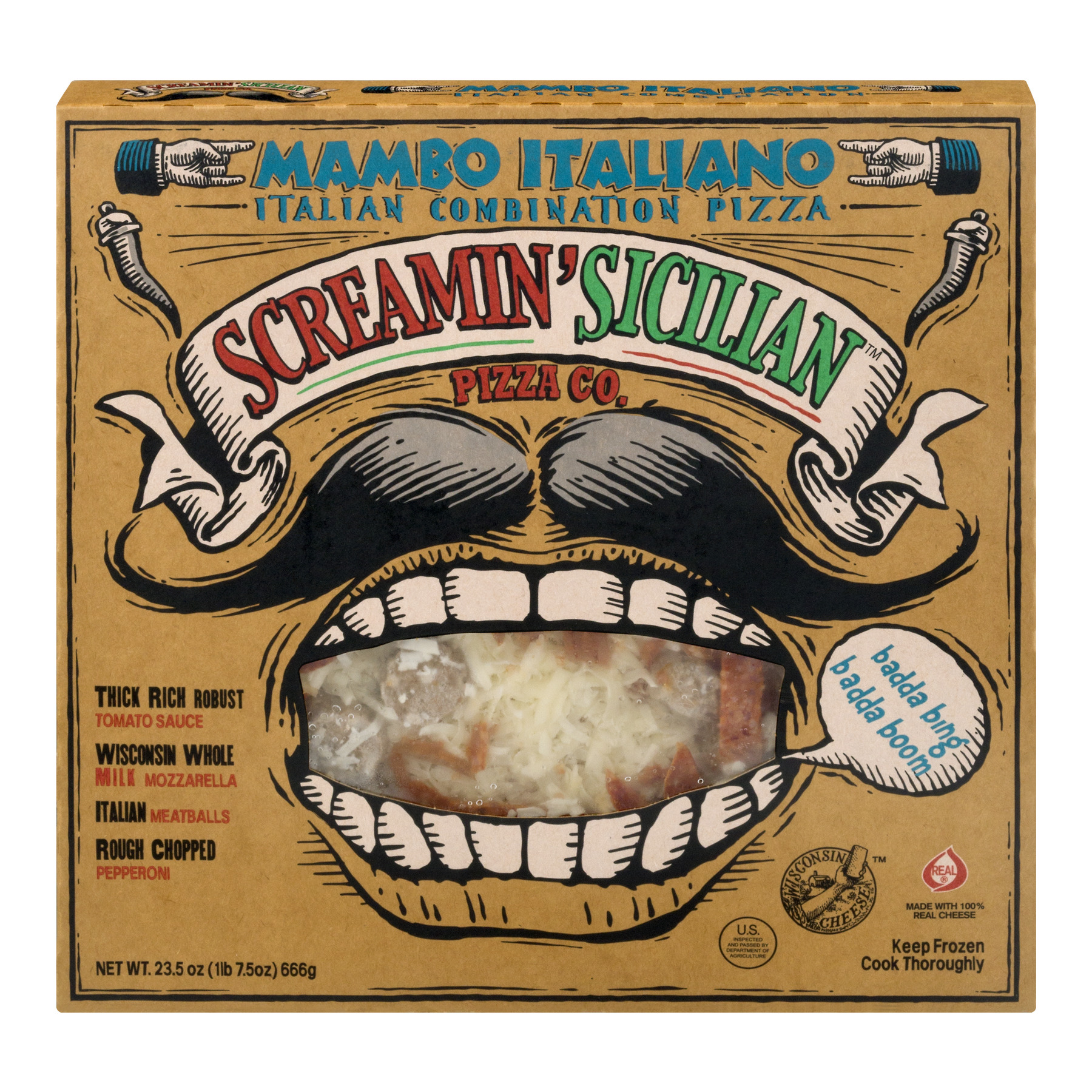 Screamin' Sicilian Pizza Co. Pizza Mambo Italiano, 23.5 OZ