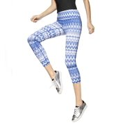 Hue 16657 Ikat Active Leggings (Blue XL)