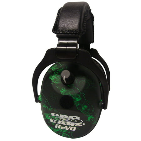 Pro Ears ReVO Electronic Ear Muffs, NRR 25 Zombie (Best Electronic Ear Muffs For Hunting)