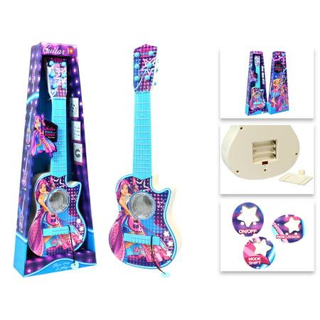 Rock House Metal Guitar - Rock Girls Royals Plastic Toy Guitar Blue