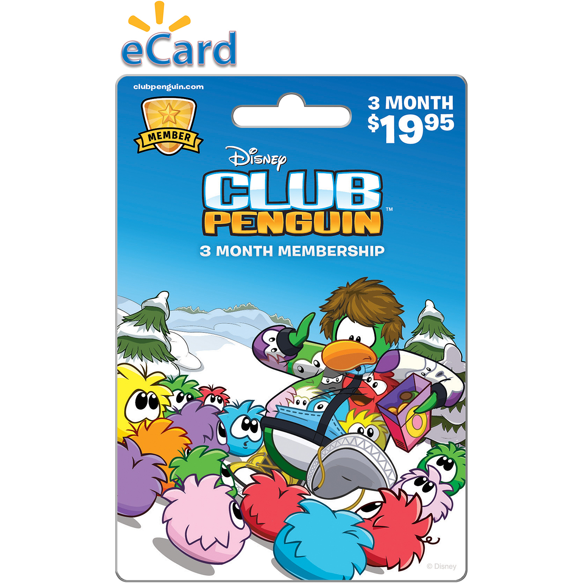 (Email Delivery) Disney Online Club Penguin Three Month $19.95