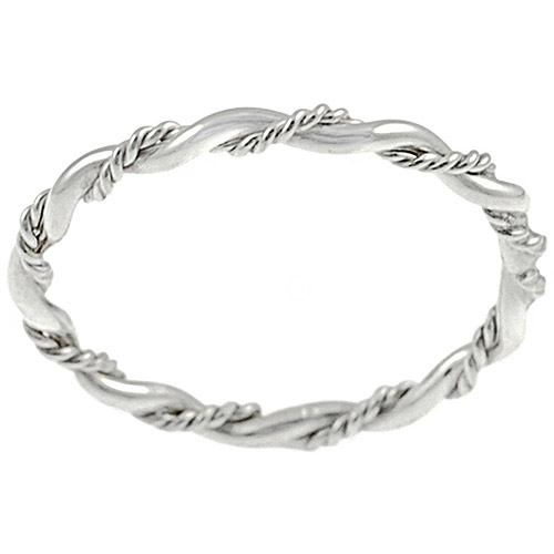 Brinley Co. Twist Ring in Sterling Silver