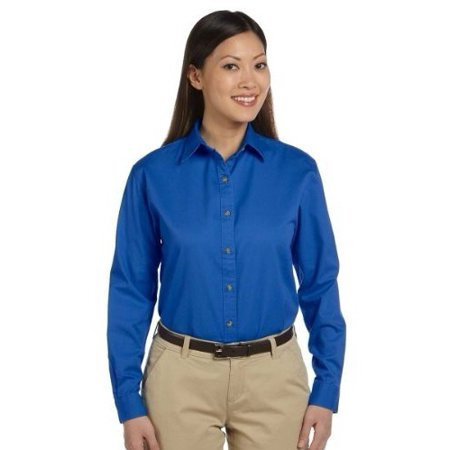 Devon & Jones Classic Women's Titan Long Sleeve Twill Shirt
