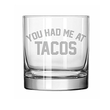 11 oz Rocks Whiskey Highball Glass Funny You Had Me At (Glares At You)