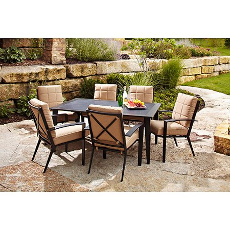 Hometrends Urban Haven 7 Piece Dining Set Box 1 Of 2